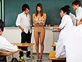 新米教師のわたしは、オッパイが大きいせいか思春期の生徒たちのオモチャにされ皆がいる前で全裸授業をさせられています。 深田ナナ2