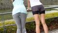 【ランニング女子ナンパ!】汗だくランニング効果で手に入れたメリハリボディの女子2人に並走しながら声をかけ、ホテルに誘い込み、エロ汁まみれの怒涛3P!