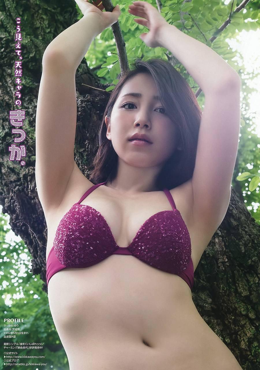 HKTの田島芽瑠ちゃんが16歳なのに豊乳エッチ画像